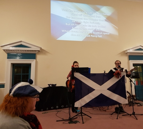 Bethea and David sing traditional Scottish songs