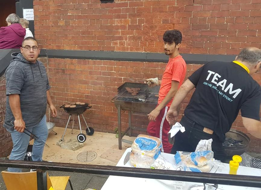 The BBQ well underway