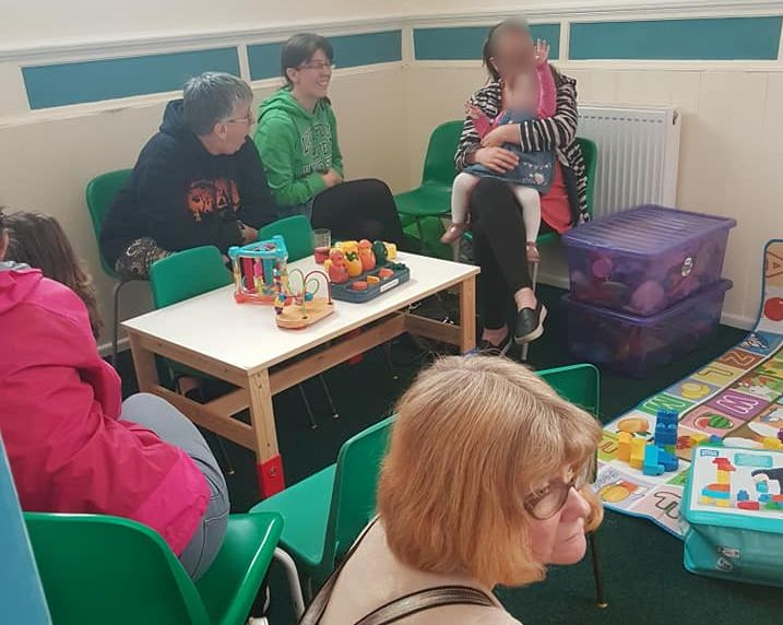 Our under 5s area providing a sit down for Mums