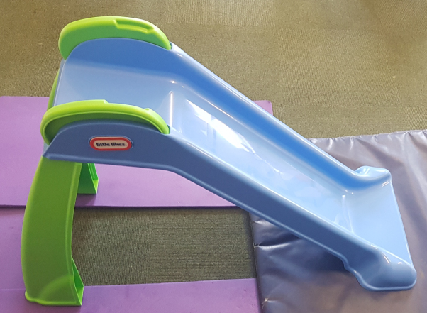 The slide - our newest piece of equipment and one of the most popular