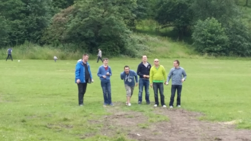 Some of the men enjoyed a spot of boules